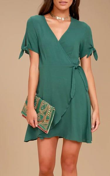 My Philosophy Burgundy Wrap Dress Best Fashion Hq