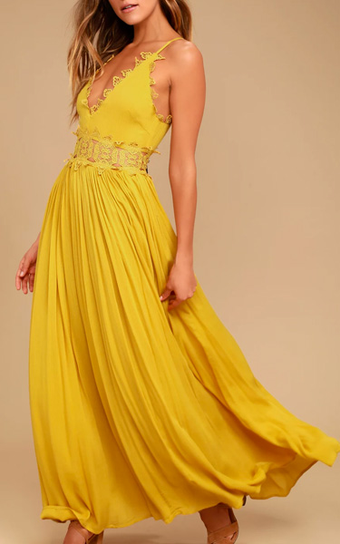 This Is Love Mustard Yellow Lace Maxi Dress Bestfashionhqcom